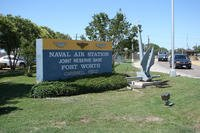 Sign by the main gate at Naval Air Station Joint Reserve Base Ft. Worth, formerly Carswell AFB, Texas. (U.S. Air Force photo)