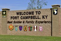 A photo of the entrance sign outside of Gate 3 at Fort Campbell, Ky. (U.S. Army photo/Sam Shore)