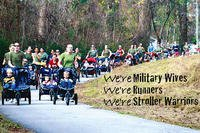 Stroller Warriors members participate in a March 7, 2013 run.