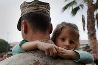 Talking to your military child about feelings can help both of you feel better. Sgt. Heidi E. Agostini/Marine Corps