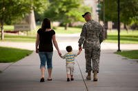 An Army family walks hand-in-hand (Photo: U.S. Army/David Vergun)