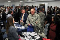Army Reserve promotes Private Public Partnership at New Jersey job fair.