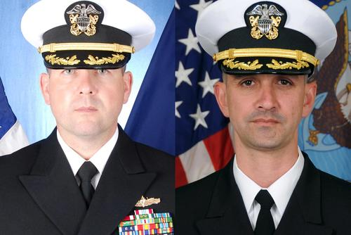 U.S. Navy Commanders Bryce Benson (left) and Alfredo J. Sanchez (right) (Navy Photos)